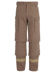 Y Project Tiered Denim Trousers Beige