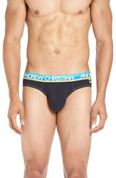 Andrew Christian Men's 'Happy' Tagless Briefs Navy