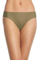 Women's Halogen No Show Mesh Thong Green Cypress