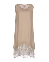 Guardaroba Dresses Short Dresses Women Beige