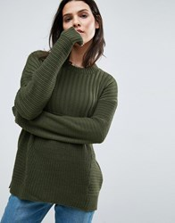 Asos Ultimate Chunky Jumper Olive Green
