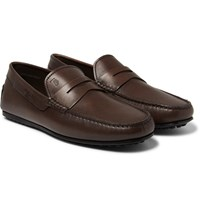 Tod's City Gommino Leather Penny Loafers Brown