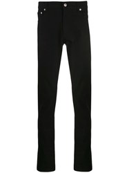 Alexander Mcqueen Logo Embroidered Slim Jeans Black