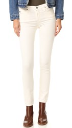 Ag Jeans The Prima Mid Rise Cigarette Powder White