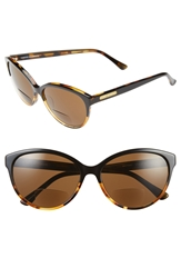 Corinne Mccormack 'Brittany' Cat Eye Reading Sunglasses Black Tortoise