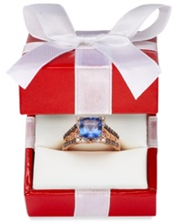 Le Vian Blueberry Tanzanite 2 Ct. T.W. And Diamond 3 8 Ct. T.W. Ring In 14K Strawberry Rose Gold