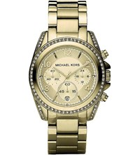 Michael Kors Mk5166 Blair Yellow Gold Plated Watch