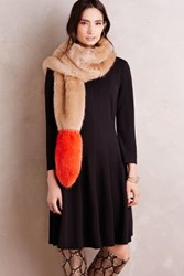 Anthropologie Dipped Faux Fur Stole Honey