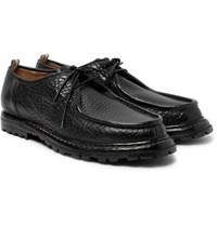 Officine Creative Voltaire Textured Leather Derby Shoes Black