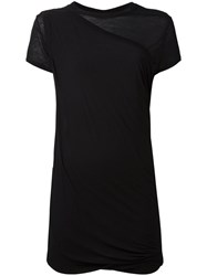 Rick Owens Drkshdw Gathered Short Sleeved Top Black
