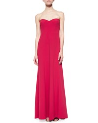 Bcbgmaxazria Strapless Sweetheart Column Gown Rio Red
