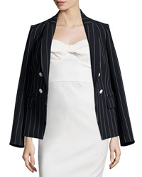 Veronica Beard Daytona Pinstriped Cutaway Blazer Black White Women's Size 10 Black White Pinst