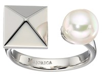Majorica Why Not Silver Ring White Ring
