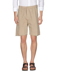 M.Grifoni Denim Trousers Bermuda Shorts Beige