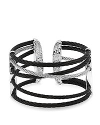 Alor Black And Grey Cable Cuff 18Kt Wg