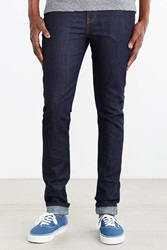 Dr. Denim Snap Unwashed Blue Slim Jean Vintage Denim Dark