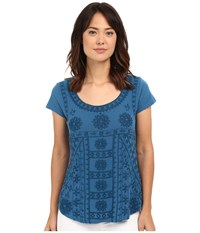 Lucky Brand Embroidered Shirt Peacock Women's Blouse Multi