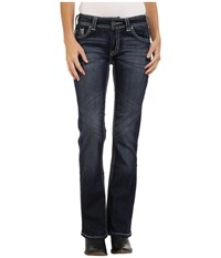 Rock And Roll Cowgirl Mid Rise Bootcut In Dark Vintage W1 4500 Dark Vintage Women's Jeans Navy