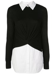 Veronica Beard Double Layer Jumper Black