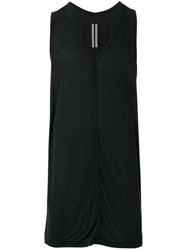 Rick Owens V Neck Tank Top Black