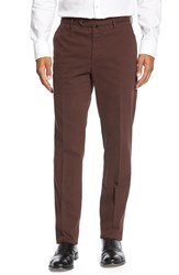 Men's Incotex 'Benn' Flat Front Trousers Dark Red