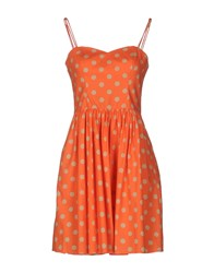 Jeremy Scott Short Dresses Orange