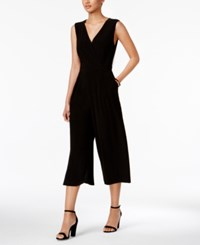 Nine West Surplice Cropped Jumpsuit Black