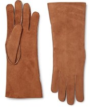 Anderson And Sheppard Shearling Gloves Tan