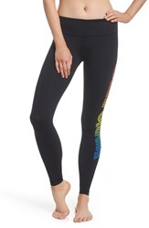 Aviator Nation California Leggings Black Rainbow