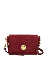 Louise Et Cie Alis Small Leather And Hair Calf Fur Crossbody Bag Rosewood