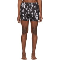 Neil Barrett Black Flower Swim Shorts