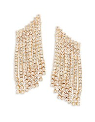 Rj Graziano Pave Climber Earrings Gold