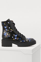 Kenzo Leather Boots With Emrboidered Flowers Embroidered Cheongsam Flower 99