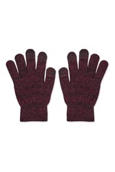 Touch Screen Gloves Burgundy