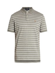 Polo Ralph Lauren Slim Fit Striped Pima Cotton Shirt Grey White