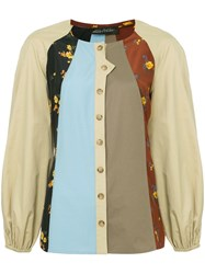Anna October Patchwork Shirt Multicolour