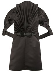 Maison Martin Margiela Pleated Front Backless Blouse Black