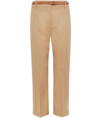 Cc Petite Belted Flannel Trouser Camel