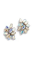 Ben Amun Iridescent Cluster Earrings Multi