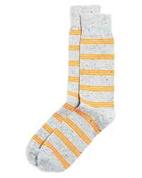 The Men's Store At Bloomingdale's Triple Stripe Dress Socks Medium Grey