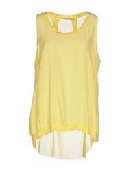 Massimo Rebecchi Topwear Vests Women Yellow
