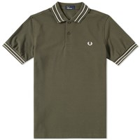 Fred Perry Tramline Tipped Polo Green