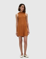 Which We Want Cille Ribbed Dress In Cognac
