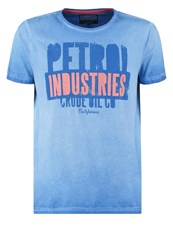 Petrol Industries Print Tshirt Dodger Blue Light Blue
