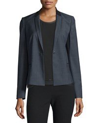 Elie Tahari King One Button Suiting Jacket Women's Size 8 Black