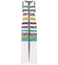 Missoni Sleeveless Striped Knitted Cardigan Multicoloured