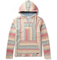 Faherty Baja Striped Cotton Hoodie Multi