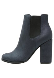 Only Shoes Onlblaise Ankle Boots Blue Shiny Metallic Blue