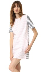 Chinti And Parker Breton Dress Off White Blossom Navy