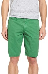 Original Paperbacks Men's 'St. Barts' Raw Edge Shorts Kelly Green